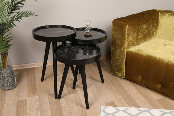 Picture of Nancy's Fairview Heights Side Table - Design - Black - Fabricated Wood - 39 cm x 39 cm x 60.5 cm