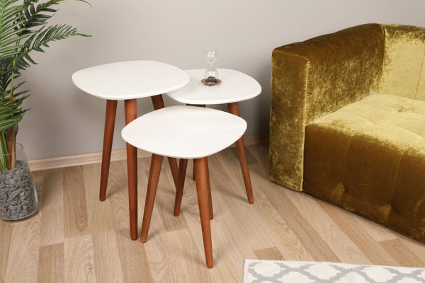 Picture of Nancy's Avocado Heights Side Table - Design - White, Brown - Fabricated Wood - 39 cm x 41 cm x 59 cm