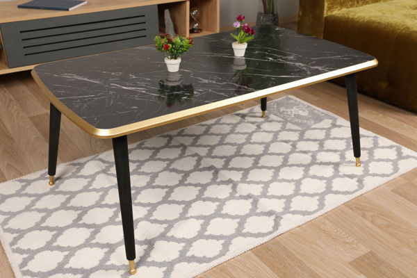 Picture of Nancy's Lawrenceville Coffee Table - Design - Black, Gold - Fabricated Wood - 60 cm x 100 cm x 42 cm