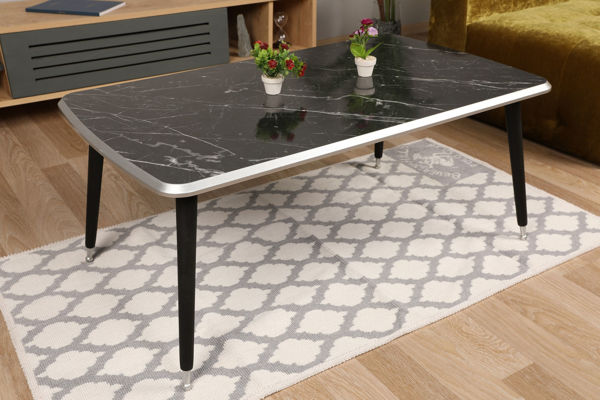 Picture of Nancy's Morrisville Coffee Table - Design - Black, Silver - Fabricated Wood - 60 cm x 100 cm x 42 cm