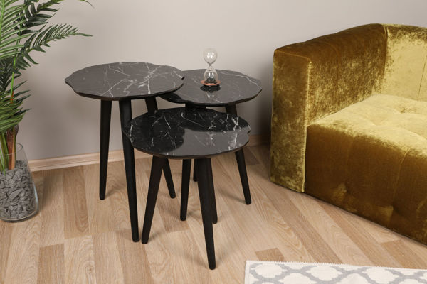 Picture of Nancy's Maple Heights Side table - Design - Black - Fabricated Wood - 39 cm x 41 cm x 59 cm