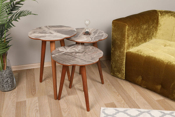 Picture of Nancy's Columbia Heights Side table - Design - Brown - Fabricated Wood - 39 cm x 41 cm x 59 cm