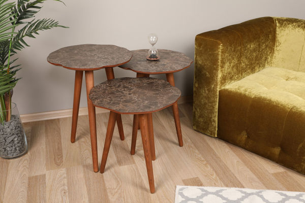 Picture of Nancy's Parma Heights Side Table - Design - Brown - Fabricated Wood - 39 cm x 41 cm x 59 cm