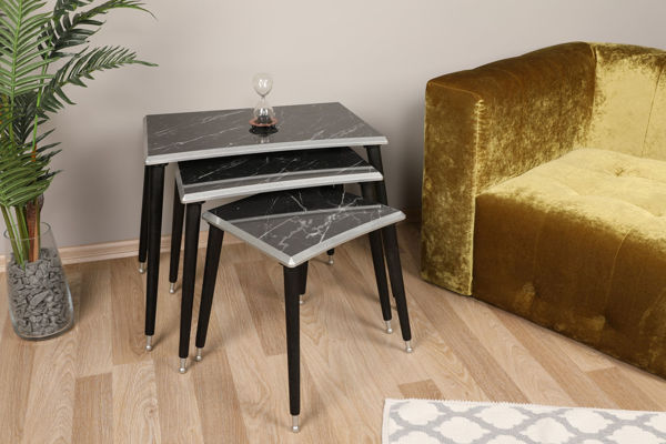 Picture of Nancy's Mayfield Heights Side Table - Design - Black, Grey - Fabricated Wood - 38.5 cm x 52.5 cm x 60 cm