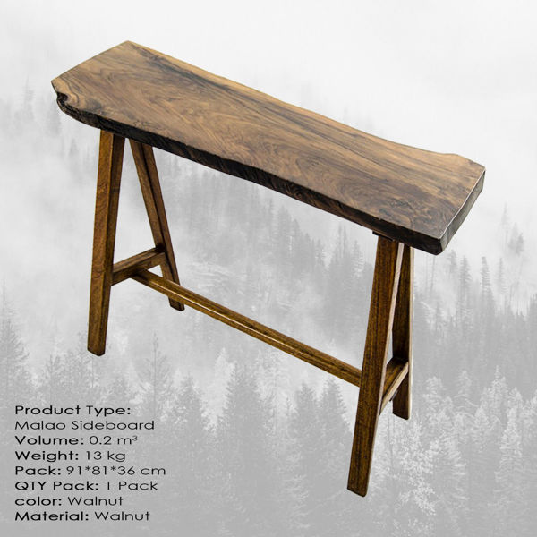 Picture of Nancy's Country Club Coffee Table - Modern - Brown - Walnut Wood - 34 cm x 89 cm x 79 cm