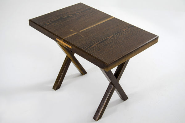 Picture of Nancy's San Jacinto Side table - Modern - Brown - Rosewood - 40 cm x 62 cm x 62 cm