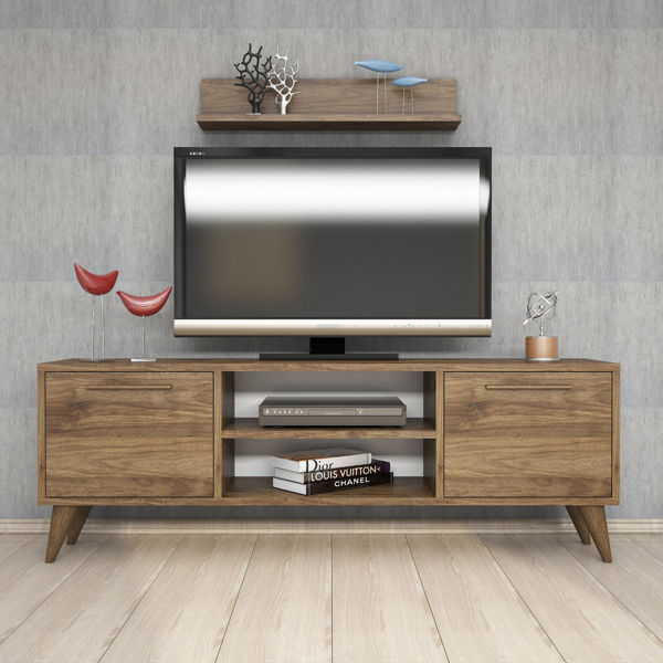 Picture of Nancy's Oro Valley TV Furniture - Scandinavian - Brown - Fabricated Wood - 29.5 cm x 138 cm x 48.6 cm