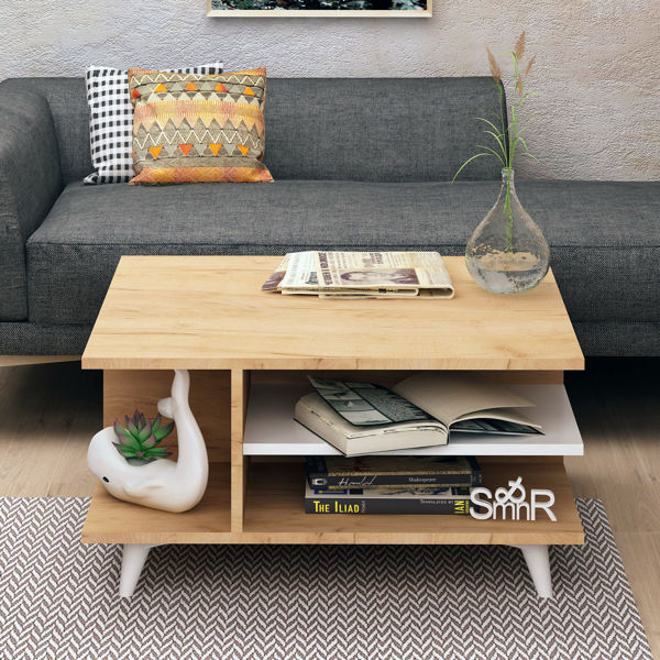 Picture of Nancy's Annandale Coffee Table - Scandinavian - Brown, White - Fabricated Wood, Plastic - 80 cm x 80 cm x 40 cm