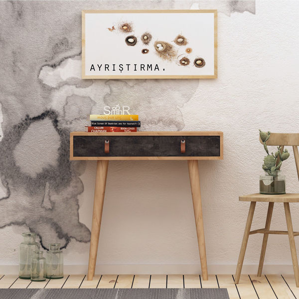 Picture of Nancy's Apache Junction Wall Furniture - Scandinavian - Brown - Fabricated Wood, Leather - 30 cm x 80 cm x 87.6 cm