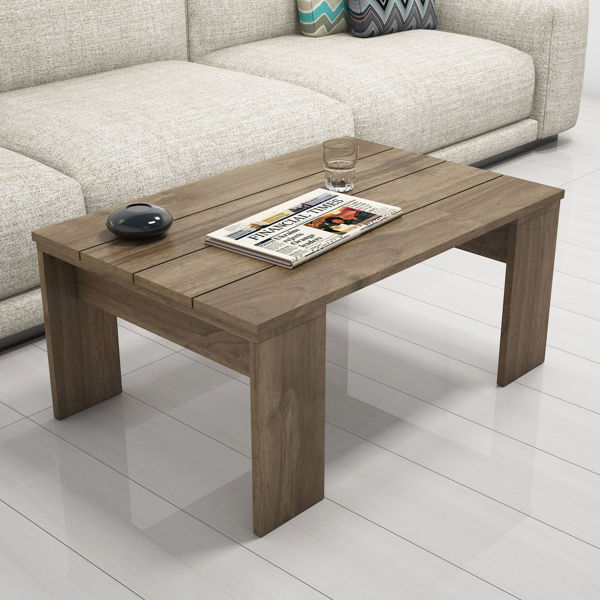 Picture of Nancy's Clermont Coffee Table - Industrial - Brown - Fabricated Wood - 60 cm x 90 cm x 40 cm