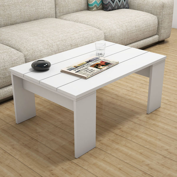 Picture of Nancy's Pacifica Coffee Table - Industrial - White - Fabricated Wood - 60 cm x 90 cm x 40 cm