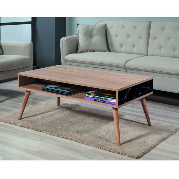 Picture of Nancy's Copperas Cove Coffee Table - Scandinavian - Brown, Black, White - Fabricated Wood - 60 cm x 110 cm x 45 cm