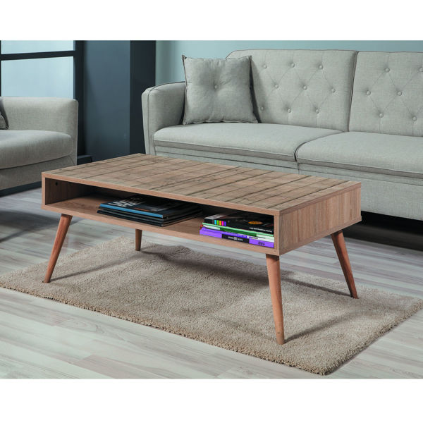 Picture of Nancy's Savage Coffee Table - Scandinavian - Brown - Fabricated Wood - 60 cm x 110 cm x 45 cm