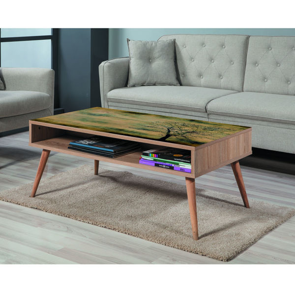 Picture of Nancy's East Lake Coffee Table - Scandinavian - Brown, Green, Yellow - Fabricated Wood - 60 cm x 110 cm x 45 cm