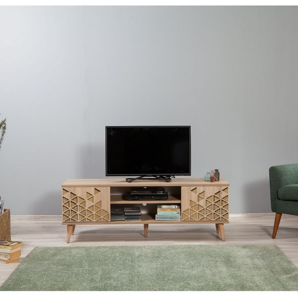 Picture of Nancy's Temescal Valley TV Furniture - Modern - Brown - Fabricated Wood - 40 cm x 140 cm x 50 cm