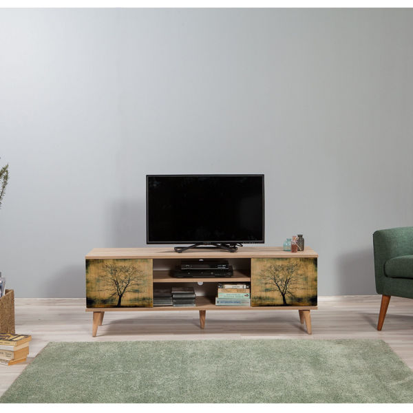 Picture of Nancy's Maple Valley TV Furniture - Modern - Brown - Fabricated Wood - 40 cm x 140 cm x 50 cm
