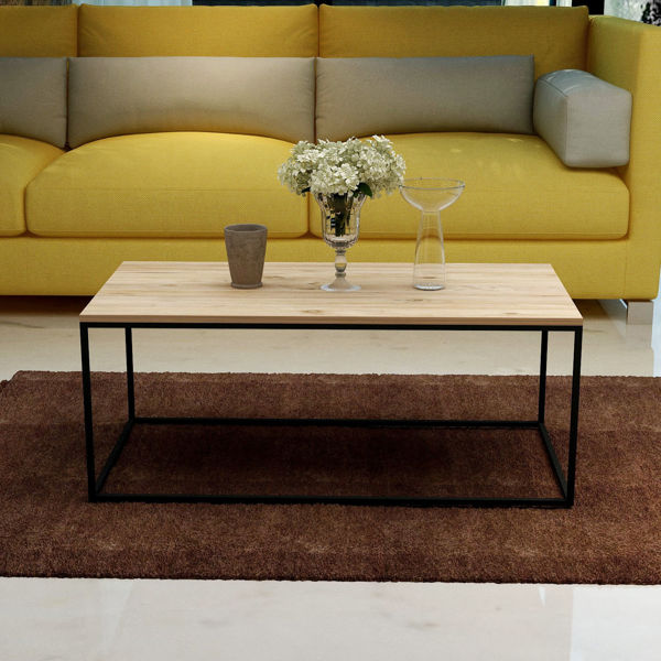 Picture of Nancy's Brooklyn Center Coffee Table - Modern - Brown, Black - Fabricated Wood, Metal - 43 cm x 110 cm x 55 cm
