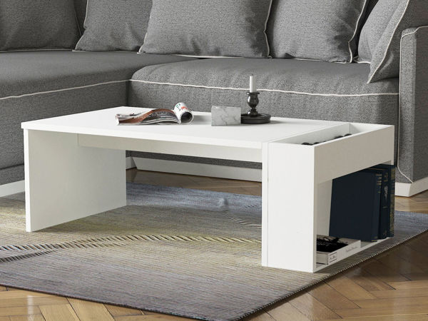 Picture of Nancy's Zionsville Coffee Table - Modern - White - Fabricated Wood - 50 cm x 95 cm x 34 cm