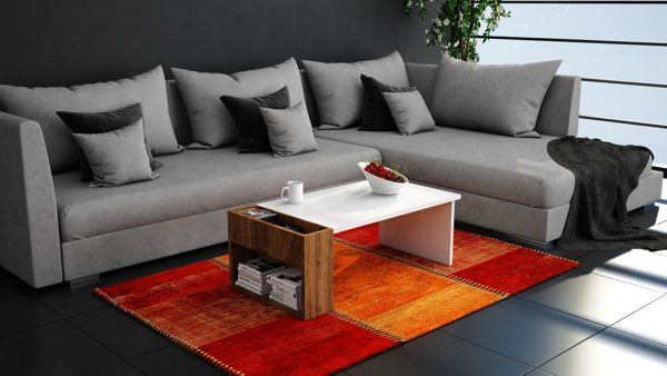 Picture of Nancy's Schererville Coffee Table - Modern - White, Brown - Fabricated Wood - 50 cm x 95 cm x 34 cm