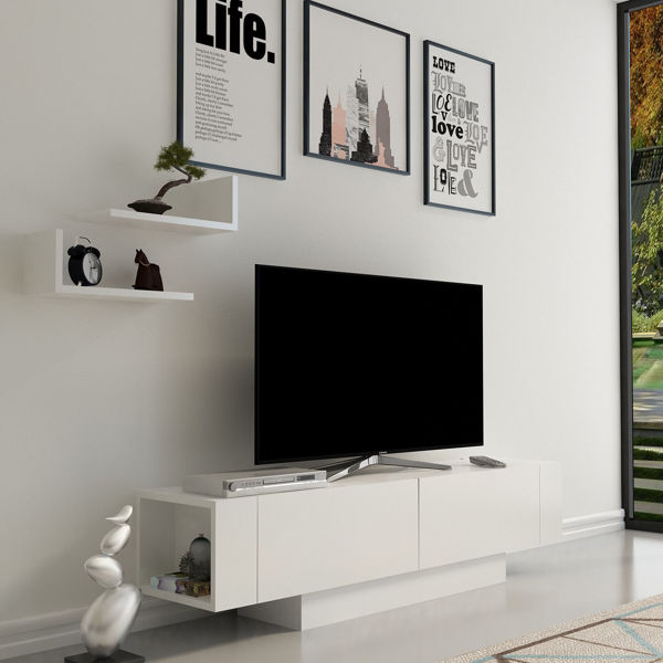 Picture of Nancy's Rockledge TV Furniture - Modern - White - Fabricated Wood - 31.5 cm x 150 cm x 41.6 cm