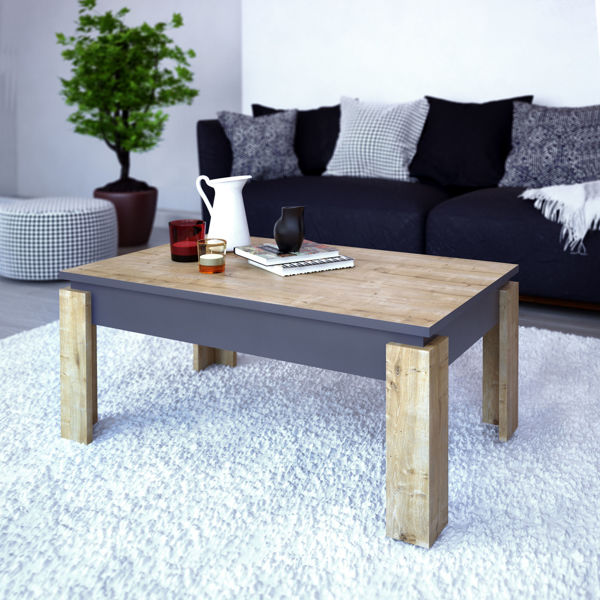 Picture of Nancy's Brownsburg Coffee Table - Modern - Brown, Grey - Fabricated Wood - 60 cm x 90 cm x 40 cm