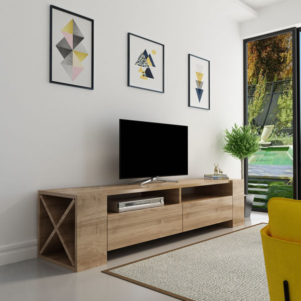 Picture of Nancy's Fountain Hills TV Furniture - Modern - Brown - Fabricated Wood - 35 cm x 155 cm x 35 cm