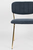 Picture of Nancy's Kings Grant Chair - Retro - Gold, Blue - Polyester, Steel, Plywood - 56 cm x 49 cm x 78 cm