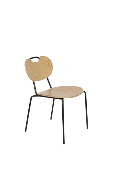 Picture of Nancy's Orting Chair - Retro - Natural, Black - Plywood, Steel - 56 cm x 47 cm x 78 cm
