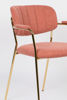 Picture of Nancy's East Grand Forks Chair - Retro - Gold, Pink - Polyester, Plywood, Steel - 56 cm x 60.5 cm x 78 cm