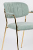 Picture of Nancy's Edgemere Chair - Retro - Gold, Light Green - Polyester, Plywood, Steel - 56 cm x 60.5 cm x 78 cm