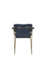 Picture of Nancy's Succasunna Chair - Retro - Gold, Dark Blue - Polyester, Plywood, Steel - 56 cm x 60.5 cm x 78 cm