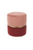 Picture of Nancy's Willow Street Stool - Retro - Pink, Gold, Red - Polyester, Steel, Mdf - 35 cm x 35 cm x 39 cm
