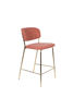 Picture of Nancy's Fort Mitchell Stool - Modern - Gold, Pink - Polyester, Steel, Pu - 54 cm x 48 cm x 89 cm