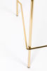 Picture of Nancy's Mammoth Lakes Stool - Modern - Gold, Light Green - Polyester, Steel, Pu - 54 cm x 48 cm x 89 cm