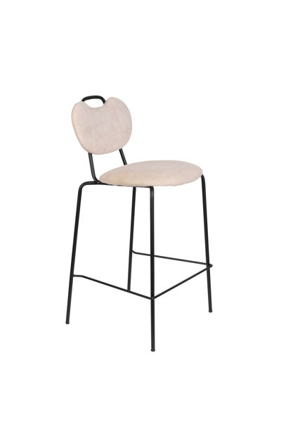 Picture of Nancy's Wedgefield Stool - Modern - Pink - Polyester, Steel, Pu - 52 cm x 51 cm x 95 cm