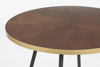 Picture of Nancy's Oradell Table - Industrial - Brown, Gold, Black - Mdf, Iron, Plastic - 91 cm x 91 cm x 75 cm