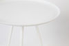 Picture of Nancy's Helena Valley West Central Table - Modern - White - Iron, Rubber - 39 cm x 39 cm x 45 cm