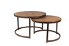 Picture of Nancy's Fairfax Station Table - Modern - Brown, Natural - Wood, Iron, Plastic - 74 cm x 74 cm x 46 cm