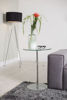 Picture of Nancy's Newberry Side Table - Modern - Silver, Transparent - Glass, Metal - 45 cm x 45 cm x 75 cm