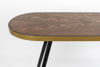 Picture of Nancy's Lake Station Console Table - Industrial - Brown, Gold, Black - Mdf, Iron, Wood - 41 cm x 121 cm x 75 cm