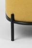 Picture of Nancy's Valencia West Lounge Chair - Modern - Yellow, Black - Polyester, Plywood, Iron - 71.5 cm x 66 cm x 77 cm