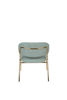 Picture of Nancy's Diamond Springs Lounge Chair - Industrial - Gold, Light Green - Polyester, Plywood, Steel - 60 cm x 56 cm x 68 cm
