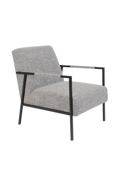 Picture of Nancy's Endwell Lounge Chair - Industrial - Light Grey - Polyester, Wood, Iron - 81 cm x 60.5 cm x 76 cm