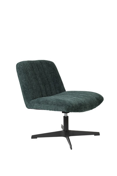 Picture of Nancy's El Campo Lounge Chair - Industrial - Green, Black - Polyester, Plywood, Steel - 71 cm x 65 cm x 72.5 cm