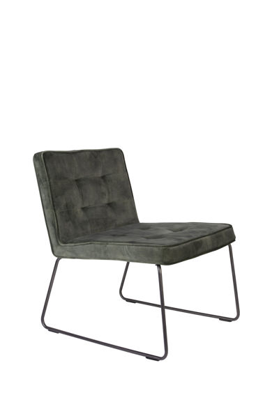 Picture of Nancy's Gold Canyon Lounge Chair - Industrial - Grey, Green - Polyester, Plywood, Metal - 69 cm x 55.5 cm x 75 cm