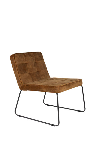 Picture of Nancy's Cedarburg Lounge Chair - Industrial - Gold, Yellow - Polyester, Plywood, Metal - 69 cm x 55.5 cm x 75 cm