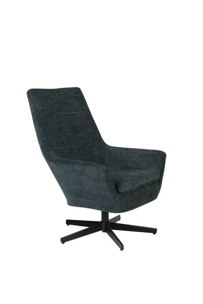 Picture of Nancy's Claiborne Lounge Chair - Industrial - Green, Black - Polyester, Plywood, Iron - 79 cm x 76 cm x 98 cm