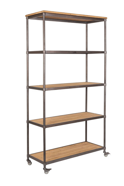 Picture of Nancy's Mountain Top Shelf - Industrial - Brown, Grey, Natural - Mdf, Iron - 39 cm x 100 cm x 184 cm
