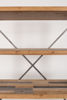 Picture of Nancy's Magalia Shelf - Industrial - Brown, Grey, Natural - Iron, Wood, Mdf - 39 cm x 120 cm x 149 cm