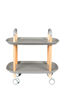 Picture of Nancy's Worth Trolley - Industrial - Grey, Natural - Polypropylene, Wood, Iron - 57.5 cm x 57.5 cm x 37 cm